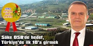 Söke OSB'de hedef, Türkiye'de ilk 10'a girmek